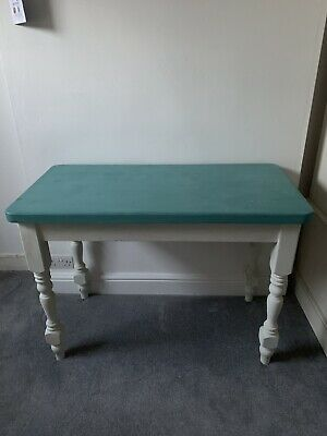 Solid Pine Dressing Table/Desk, Distressed Look Painted In Annie Sloane Paint