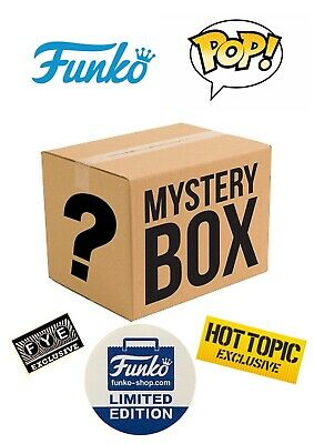 Funko Pop Mystery Box Of 6 Figures All Exclusives, GITD, Flocked, and Vaulted