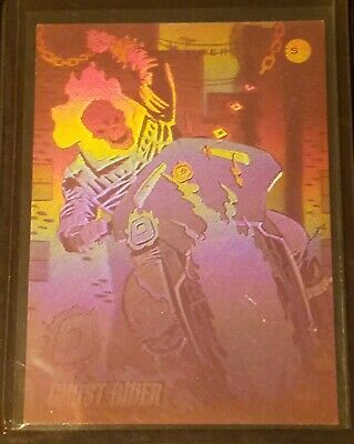 1992 Impel Marvel Universe III Hologram H-5 Ghost Rider
