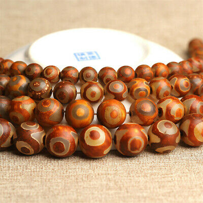 Antique Agate Dzi Bead Loose Beads Making Jewelry 15 inches Natural Craft Lots