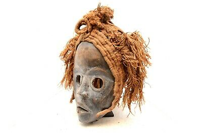 LARGE Old african mask Ancient masque headdress Dan Liberia Tribal art Antique