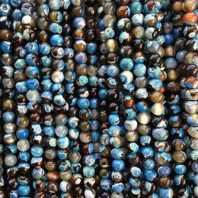 4-10mm Nature Colorful Stripe Agate Beads Diy Accessories Healing Wholesale
