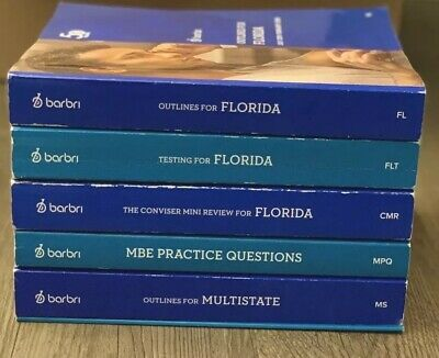 2018-2019 BARBRI BAR Exam FLORIDA almost FULL SET, Conviser