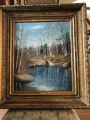 Antique Russian Painting Oil On Canvas, Signed, Circa 1900-25