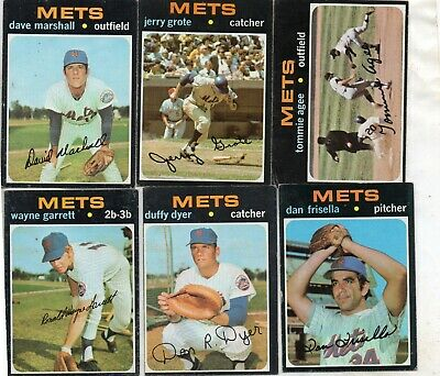 Vintage 1971 Topps  New York Mets  Lot Of 11D ( See List ) Vg/ex