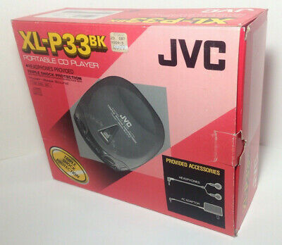 Vintage 1997 JVC XL-P33BK Portable CD Player New Old Stock