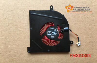 CPU Cooling Fan For MSI GS63 GS63VR GS73 GS73VR MS-16K2 BS5005HS-U2F1