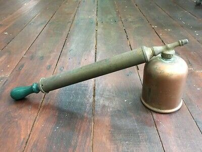 VINTAGE Rega Garden Sprayer - Brass w Wooden Handle