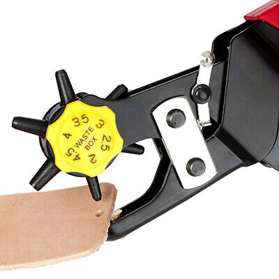 Deluxe Leather Hole Punch with adjustable dial & no fraying