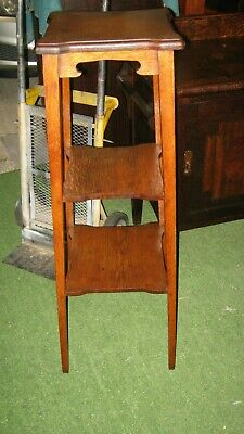ENGLISH OAK 3 level PLANT or LAMP STAND.