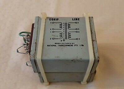 National Transformers Pty Ltd audio transformers (pair) 4012P