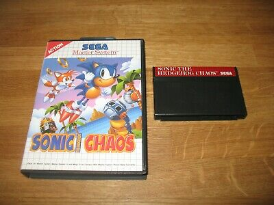 Sega Master System SMS game - Sonic the Hedgehog Chaos boxed but no book