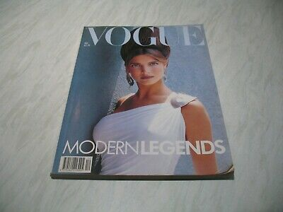 Vogue magazine # 1988 December UK issue Stephanie Seymour cover by Herb Ritts