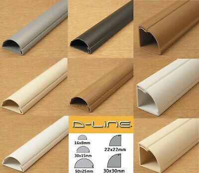 D-Line Self Adhesive Trunking Tv Cable Hide Wire Tidy Cover Pvc Plastic Dline