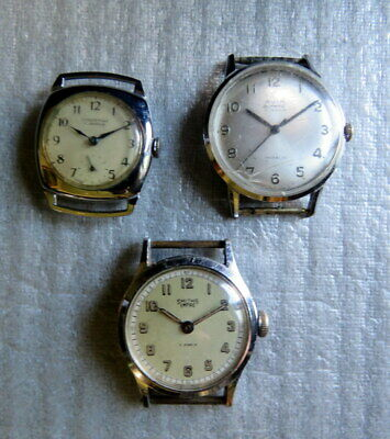 3 Vintage Watches: Smith's Empire, Ingersol, Avia Olympic. Spares Or Repair