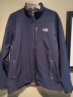 The North Face Apex Softshell Zip Up Jacket Mens XL Navy Blue