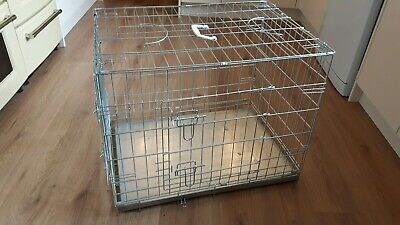 Dog - Puppy  Folding crate / cage.  Medium- 2 door & 3 handles - used once