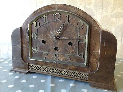 """Antique Haller Westminster Chiming Mantle Clock To Restore 13x9x5"""""""