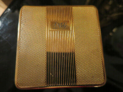 Lovely Vintage KIGU Compact, Sqaure, Gold tone 1950's  (39)
