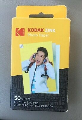 "Kodak ZINK Photo Paper Sticky Back 2""x3"" 50 Sheets FREE SHIPPING!!"