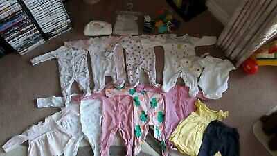 Bundle of clothes up to 1 month, Mothercare and other brands. Includes toys