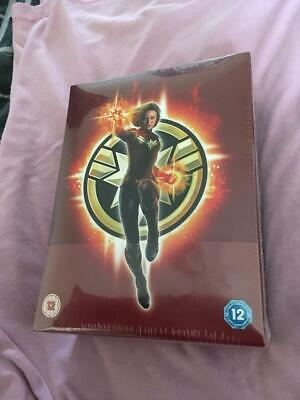 Captain Marvel 4K Blu-ray Collector's Edition Steelbook Brand New Sealed UK