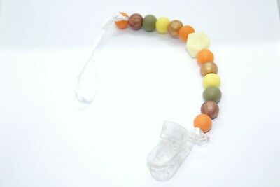 Handmade baby pacifier chain from silicone beads