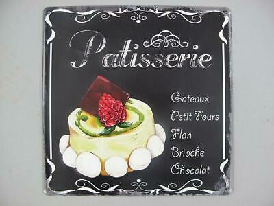 Sign,Advertisement Sign Patisserie,Cafe House Wall with Tart 11 13/16x11 13/16in