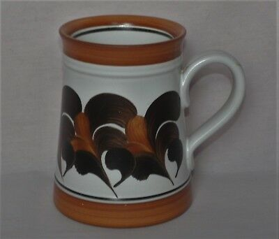 Denby, large 1 pint, Hand Painted Mug, tankard shape, by Trish Seal, 10.5cm tall
