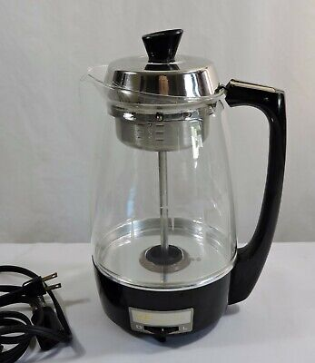 Vintage Proctor Silex Starburst 70503 Electric Glass Coffee Percolator 5-11 Cup