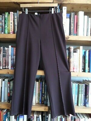 Petite Size 18 ANAMOR, 27'' Leg, Pull on Brown Boot Cut Wide Leg Soft TROUSERS