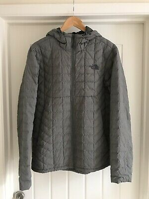 The North Face Thermoball Hoodie Insulated Packable Jacket Mens Medium Grey
