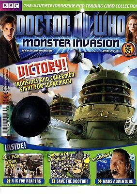 Dr Who Monster Invasion Collectable Trading Cards Magazine - Issue 35 - Read