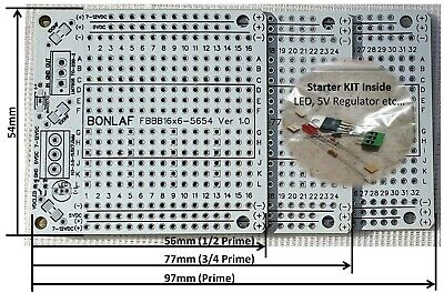 Pack of 3 Prototyping PCB Printed Circuit Board Prototype Breadboard