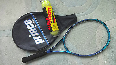 Prince Pro Comp Tennis Racket Widebody Hardly Used  W Cover & 4 New Balls
