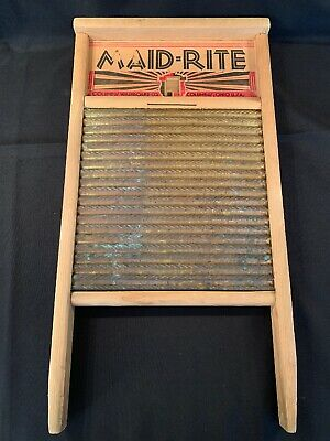 Vintage Maid-Rite No. 2062 Wash Board Columbus Washboard Co. Family Size