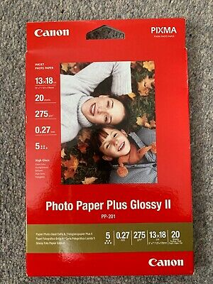 Canon PP-201 5x7 inch Photo Paper Plus Glossy II (20 Sheets)