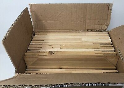"""BOX OF 48 10"""" Canvas Stretcher Bars Pine Wood 18mm thick 40mm wide + wedges"""