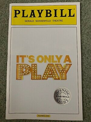 It's Only A Play Opening Night Broadway Playbill