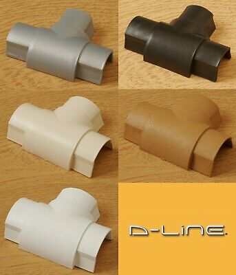 D-Line 16x8 Equal Tee Joints TV Cable Cover Wire Hiding Trunking Colour dline