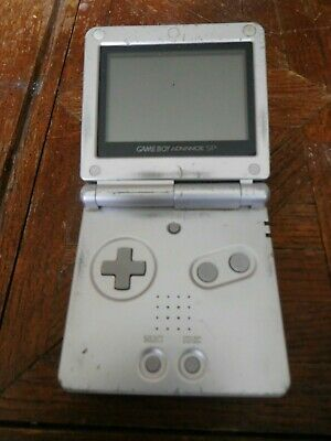 Nintendo Gameboy Advance SP Silver Handheld System Sold AS-IS TESTED Works
