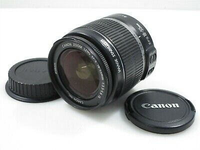 Canon EF-S 18-55mm f/3.5-5.6 IS Zoom Lens with Original Lens Caps