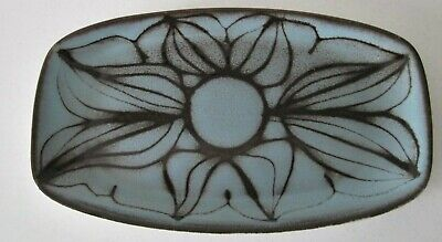 Poole Pottery Aegean tray shape 361 decorated in silhouette technique. Signed CB