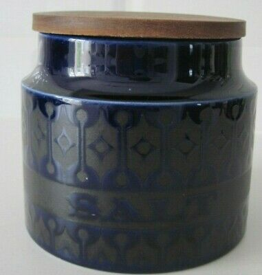 Hornsea Heirloom Midnight Blue small salt storage jar