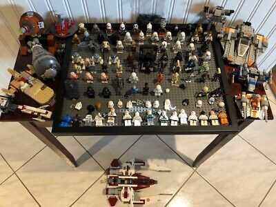 huge lot of 80+ lego star wars minifigures + parts and accessories and ship !!!!