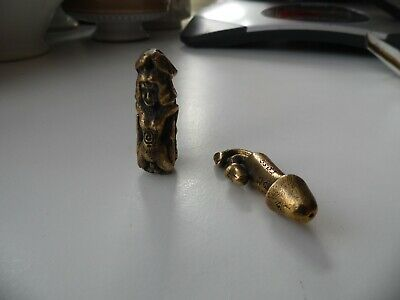 vintage collectable good luck items brass amulets phalous penis figures 3.5/4cm