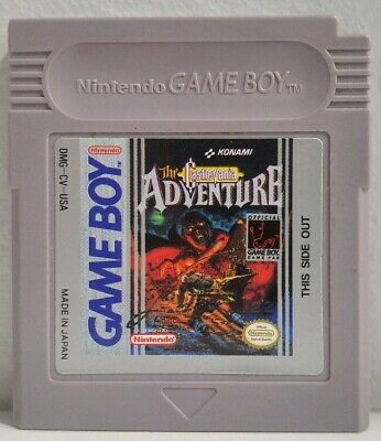 The Castlevania Adventure for Nintendo Game Boy by Konami Authentic Clean Tested