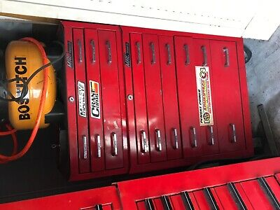 VINTAGE MAC TOOLS TOOL BOX TOP CHEST w/10 drawers MB210 15