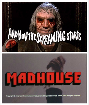 "16mm Feature Films ""AND NOW THE SCREAMING STARTS!"" (1973) and ""MADHOUSE"" (1974)"