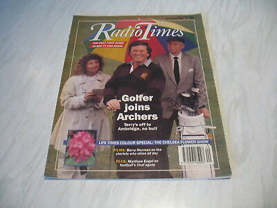 Radio Times magazine # 1989 May 20-26 BBC tv Terry Wogan The Archers cover